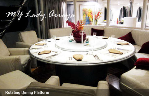 Cool Luxury Yacht Charter With Rotating Table Tops